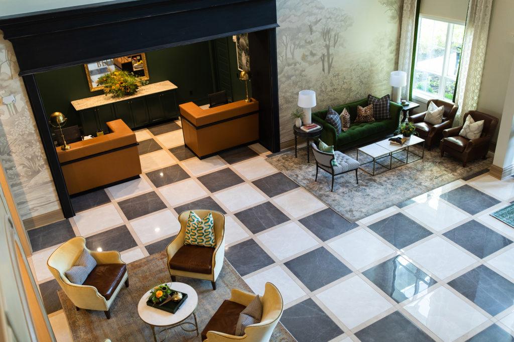 Crimson Design Group Belmont House Lobby