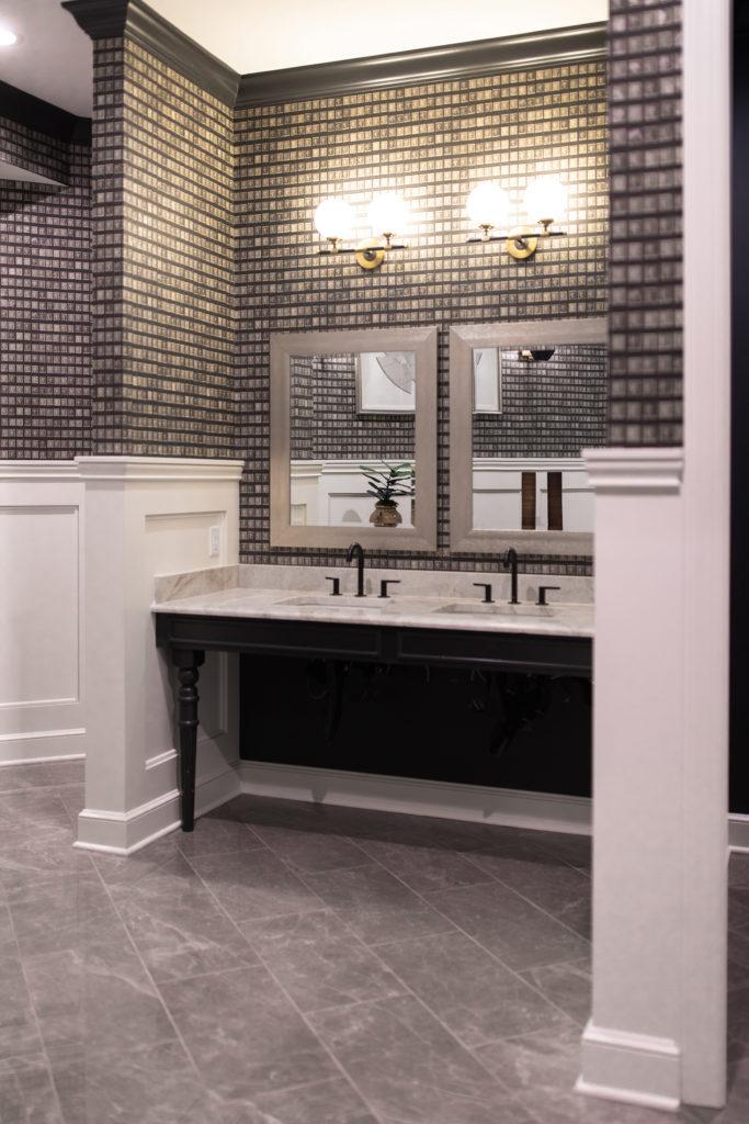 Men's Bathroom at Belmont House designed by Crimson Design Group