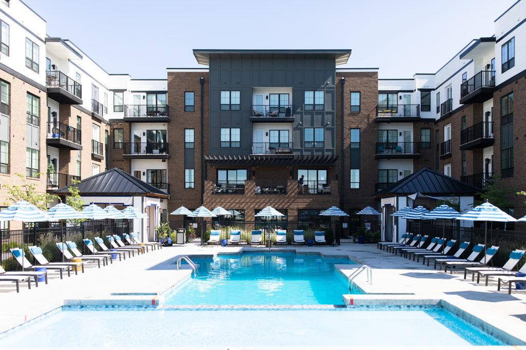 Belmont House Pool Area designed by Crimson Design Group by Addison Jones